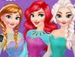 Disney Prensesleri Gökkuşağı Kıyafetleri
