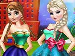 Elsa ve Anna Güzellik Salonunda