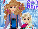 Elsa ve Annesi Saç Bakımı