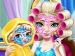 Elsa ve Kızına Bakım Yap